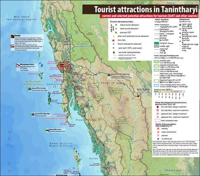 Tourist Attractions in Tanintharyi