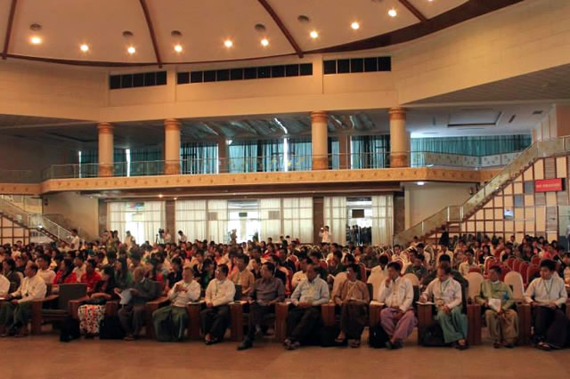 The Myanmar People's Forum Plenary discusses the draft statement.