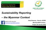 Sustainability Reporting Can Build a Social Licence to Operate for Myanmar Businesses