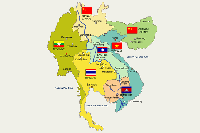 The Greater Mekong region is an international region of the Mekong River basin in Southeast Asia.
