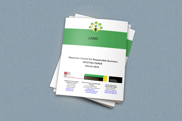 This briefing paper is intended to assist businesses investing in Myanmar that are conducting due diligence on land and seeking an understanding of the current landscape from a human rights/responsible business perspective.