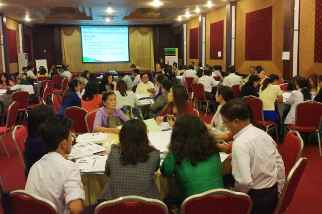 The workshop was attended by 73 participants from 49 Myanmar companies.