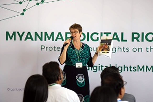Vicky Bowman delivered a presentation entitled 'Digital Rights are Human Rights'.