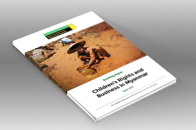 This Briefing Paper aims to provide guidance to foreign and Myanmar companies on what children's rights mean in the context of doing business in Myanmar.