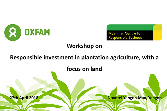 This multi-stakeholder workshop was part of MCRB's current focus, working together with Oxfam, on responsible investment in large-scale agriculture.