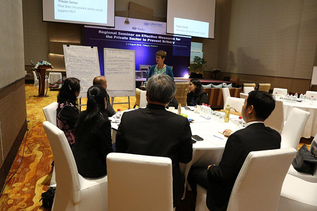 The aim of the seminar was to discuss the latest global and regional trends on liability of legal persons, and corporate responsibility as related to foreign and domestic bribery.