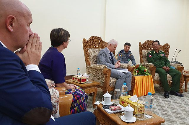The meeting was an opportunity to learn more about Myanmar's plans to introduce a new law to regulate private security companies.