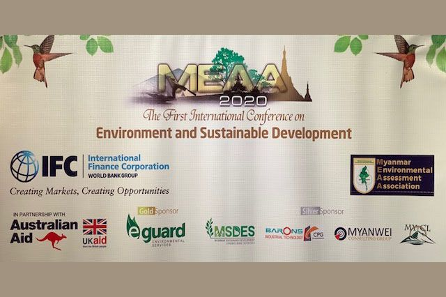 The First International Conference on Enviroment and Sustainable Development was attended by around 200 Myanmar and international environmental experts and EIA consultants, policymakers, academics, NGOs and companies.