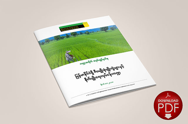 Biodiversity and the Agriculture Sector in Myanmar