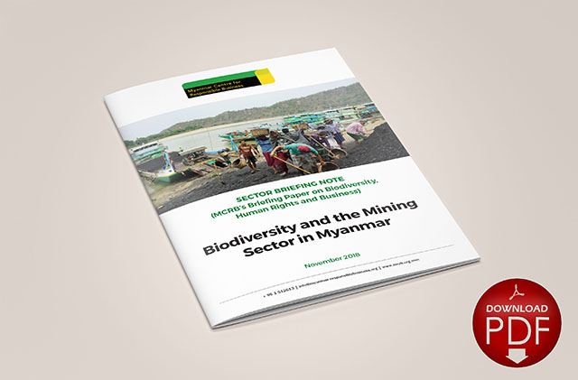 Biodiversity and the Mining Sector in Myanmar