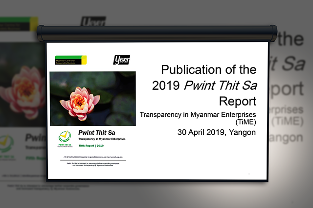 Publication of the 2019 Pwint Thit Sa Report