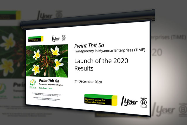 Publication of the 2020 Pwint Thit Sa Report